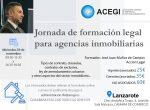 Jornada de formación legal para agencias inmobiliarias en Lanzarote